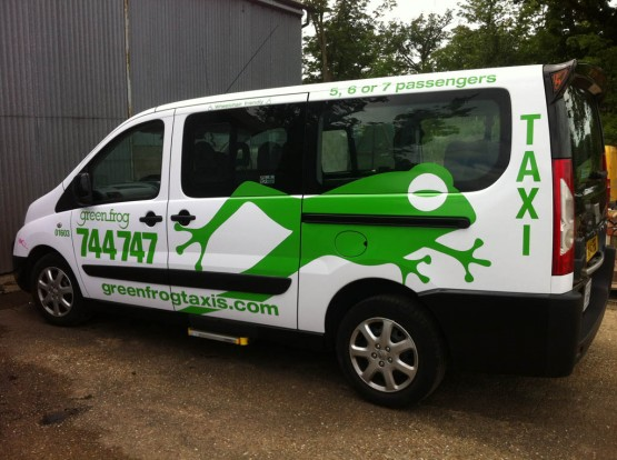 Taxi and minibus graphics Norwich (2)